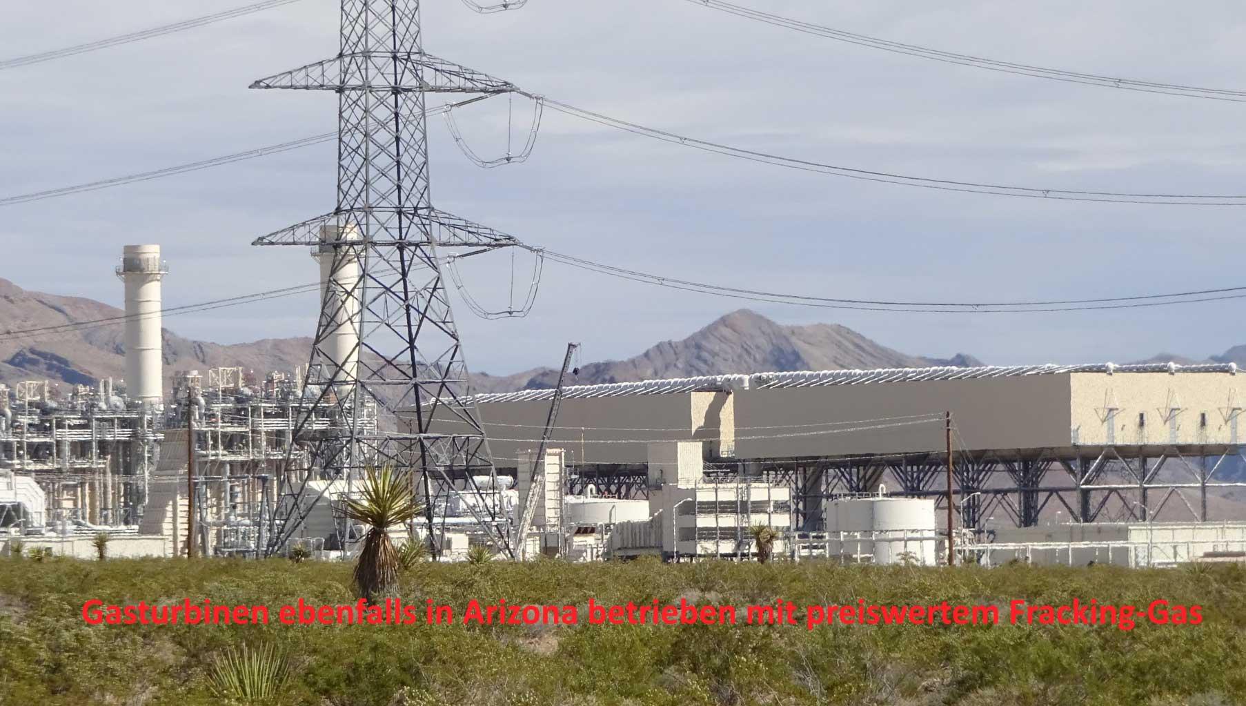 Gasturbinen ebenfalls in Arizona betrieben mit preiswertem Fracking-Gas