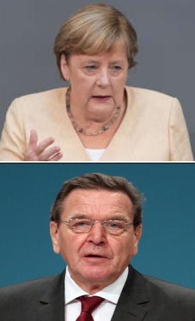 Schröder u. Merkel